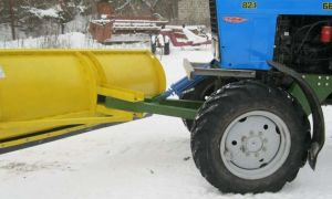 Лопата (отвал) для уборки снега трактором