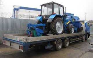 Перевозка трактора без документов