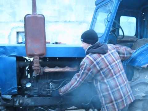 Как завести трактор правильно?