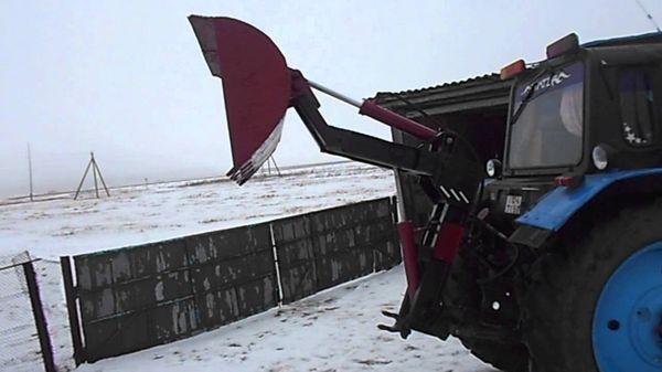 Экскаватор-погрузчик на базе МТЗ-82
