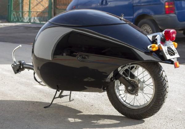 одноколесный прицеп для мотоцикла