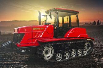 Управление гусеничным трактором